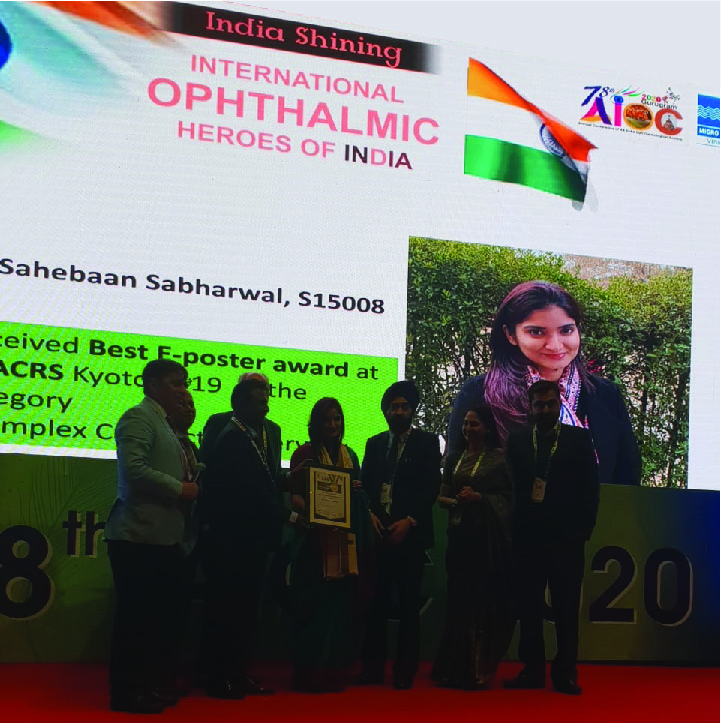 International Hero of Indian Ophthalmology